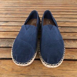 e95037c097f Toms Shoes - TOMS navy linen rope soles classics size 10 NWOT